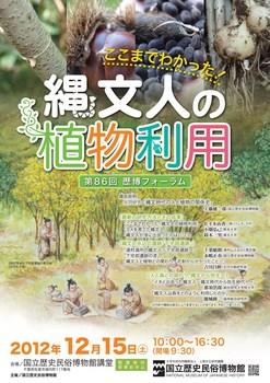歴博フォーラム「ここまでわかった!縄文人の植物利用」チラシ表.jpg